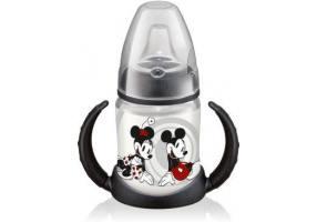NUK First Choice Mickey Πλαστικό Μπιμπερό Εκπαίδευσης 2 Λαβές Μαύρο 150ml (10.743.455)