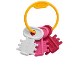 CHICCO Χρωματιστά Κλειδιά Ροζ 3m+ (63216)