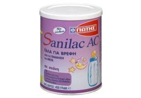 Γιώτης Sanilac Ac Ειδικό Γάλα Για Βρέφη Που Υποφέρουν Από Κολικούς 400g