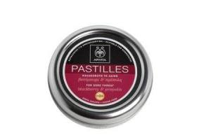 APIVITA Pastilles For Sore Throat With Blackberry & Propolis 45gr