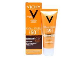 VICHY Ideal Soleil Αντιηλιακή Kρέμα Προσώπου Κατά των Κηλίδων SPF50+ 50ml