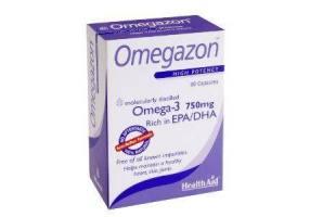 HEALTH AID Omegazon Capsules (Omega 3 Fish Oil) 750mg 60caps -blister