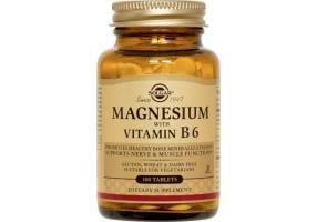 SOLGAR Magnesium with Vitamin B6 100caps