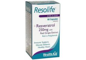 HEALTH AID Resolife -ρεσβερατρόλη 250mg 60's
