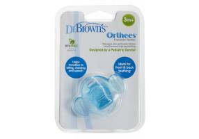 DR. BROWNS Πιπίλα Οδοντοφυΐας Μπλε 3Μ+