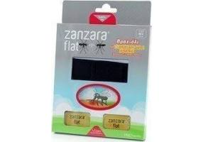 ZANZARA Flat Εντομοαπωθητικό Βραχιόλι Μαύρο Small - Medium + 2 Ταμπλέτες