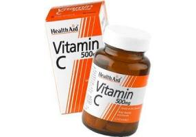 HEALTH AID Vitamin C 500mg Chewable Orange Flavour Tablets 60's