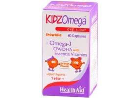 HEALTH AID Kidz Omega 60's Caps -orange