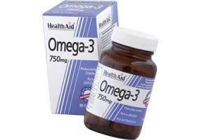 HEALTH AID Omega 3 750mg (epa 425mg, Dha 325mg) Capsules 30's