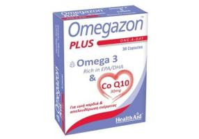 HEALTH AID Omegazon Plus Omega-3 & Co-Q10 30mg 30caps