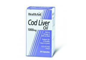 HEALTH AID Cod Liver Oil 1000mg Vegetarian Capsules 30's