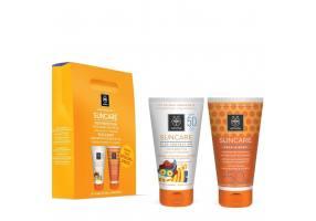 Apivita Suncare Promo Kids Protection Face & Body Milk Spf50 150ml + Face & Body Sun Protection Milk Spf30 150ml
