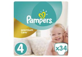 Premium Care Diaper Size 4 (Maxi) 8-14 Kg 34 Diapers