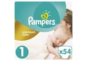 Premium Care Πάνες Μέγεθος 1 (Newborn) 2-5 κg 54 Πάνες