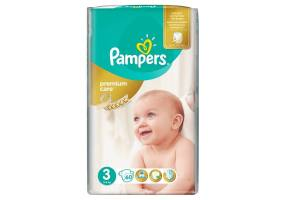 PAMPERS Premium Care Πάνες Μέγεθος 3 (Midi) 5-9 Kg 60 Πάνες