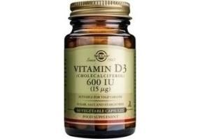 Solgar Vitamin D3 600 IU / 15μg Συμπλήρωμα Βιταμίνης D, 60caps
