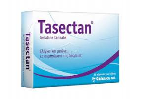 Galenica Tasectan 500mg for Control & Reduction of Symptoms of Diarrhea, 15 caps