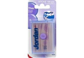 JORDAN THIN DOUBLE ENDED STICKS, 100 PIECES
