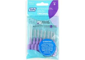 TePe No 6 1.1mm Interdental Brushes 8pcs, purple.