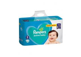 PAMPERS Active Baby-Dry Diaper Size 3 (Midi) 5-9 kg 108 Diapers