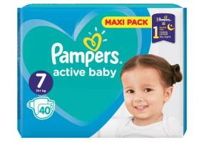 Pampers Active Baby Diapers Maxi Pack Size 7 (15+ kg)