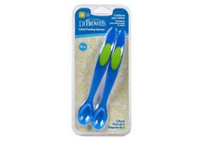 Dr. Brown's Infant Feeding Spoons  4m+ χρώμα μπλε, 2 τεμάχια