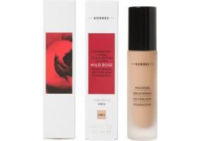 Korres Wild Rose Brightening Foundation SPF15 Άγριο Τριαντάφυλλο WRF3 για Λάμψη & Φυσική Κάλυψη, 30ml