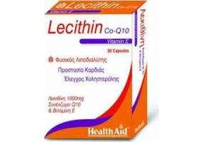 Health Aid LECITHIN 1000mg & Co-Q-10 & Vitamin E, 30caps