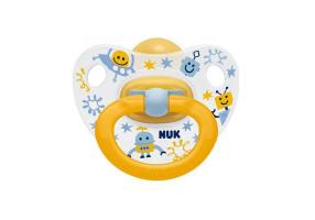 Nuk Classic Happy Kids Rubber Yellow 18-36m
