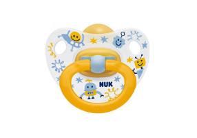 Nuk Classic Happy Kids Καουτσούκ Κίτρινη 18-36m