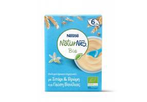 Nestle Naturnes Bio Βιολογικά Βρεφικά Δημητριακά με Σιτάρι & Βρώμη και Γεύση Βανίλιας 6 μηνών+, 240gr