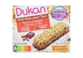 Dukan Expert Μπάρα Βρώμης με Επικάλυψη Σοκολάτας & Σπόρους Chia, 37gr