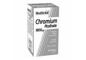 Health Aid CHROMIUM Picolinate 1800 micrograms, 60 tablets