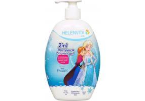 Helenvita Kids Frozen 2 in 1 Shampoo & Shower Gel Ήπιο Σαμπουάν & Αφρόλουτρο, 500ml