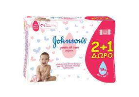Johnson's Baby Gentle All Over 2 + 1 FREE Morphs, 3 x 72 pieces