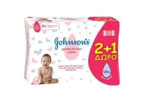Johnson's Baby Gentle All Over 2+1 ΔΩΡΟ Μωρομάντηλα, 3 x 72 τεμάχια