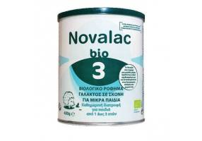 Novalac Bio 3 Organic Milk Powder for Toddlers from 1 to 3 Years, 400g