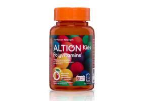 Altion Kids Polyvitamins Πολυβιταμινούχο Συμπλήρωμα Διατροφής με Βιταμίνες & Μέταλλα, 60 ζελεδάκια