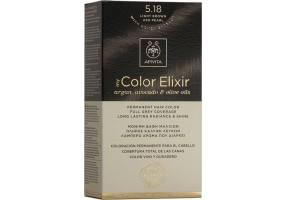 Apivita My Color Elixir Μόνιμη Βαφή Μαλλιών  5.18 Καστανό Ανοιχτό Σαντρέ, 1 τεμάχιο
