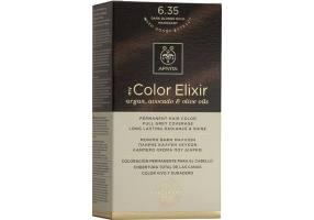 Apivita My Color Elixir Μόνιμη Βαφή Μαλλιών 6.35 Ξανθό Σκούρο Μελί Μαονί, 1 τεμάχιο